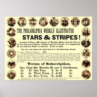 Journal hebdomadaire de 1918 étoiles et de rayures