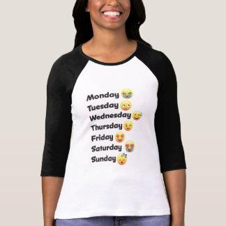 Jours d'Emoji de la chemise de semaine T-shirt