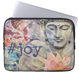 #joy Buddha-Aquarell-Kunst-Laptop-Hülse Laptop Sleeve