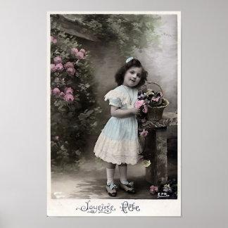 """Joyeuse Party-"" Vintages französisches Poster"