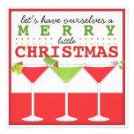 Joyeuse petite invitation de cocktail de Noël