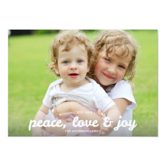 Joyeuses et lumineuses vacances Photocard - rouge Carton D'invitation 12,7 Cm X 17,78 Cm