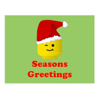 Joyeuses Fêtes de Père Noël Minifig Carte Postale