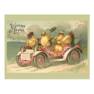 Joyeuses Pâques niedliches Vintages Ostern Postkarte