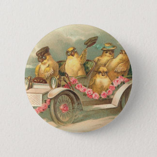 Joyeuses Pâques niedliches Vintages Ostern Runder Button 5,7 Cm