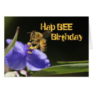 Joyeux anniversaire - carte d'abeille