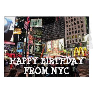 Joyeux anniversaire de carte humoristique de NYC