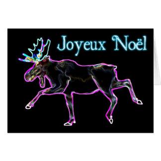 Joyeux Noёl - elektrischer Elch Grußkarte