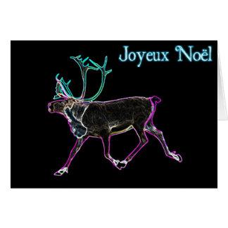 Joyeux Noёl - elektrisches Karibu Karte