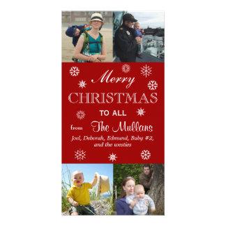 Joyeux Noël à tous Photocartes Personnalisées