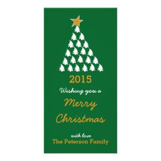 Joyeux Noël - arbre de Noël Photocartes Personnalisées