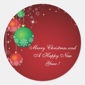 """Joyeux Noël d'autocollant """"et une bonne année ! """""""