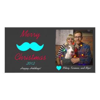 Joyeux Noël de moustache Photocarte