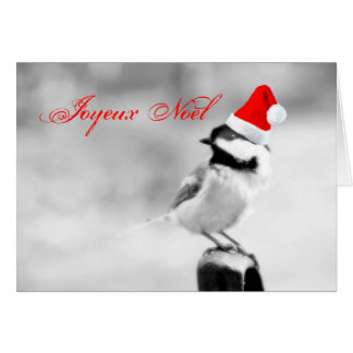 Joyeux Noël Sankt Chickadee Karte