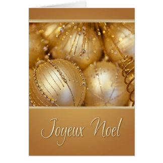 Joyeux Weihnachten-französische Weihnachtskarte Grußkarte