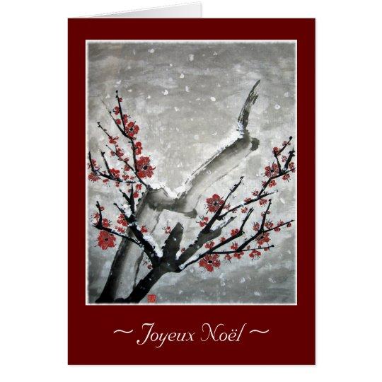Joyeux Weihnachten Mitteilungskarte