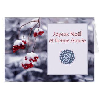 Joyeux Weihnachten und Bonne Annee, Weihnachten Grußkarte