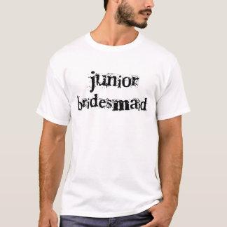 Jr. Brautjungfern-schwarzer Text T-Shirt