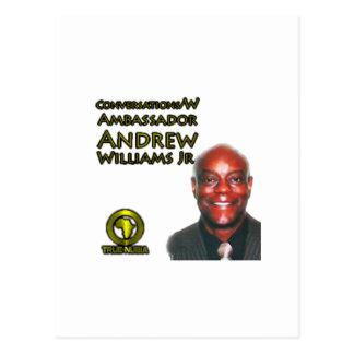 Jr. der Gesprächs-w/Ambassador Andrew Williams Postkarte