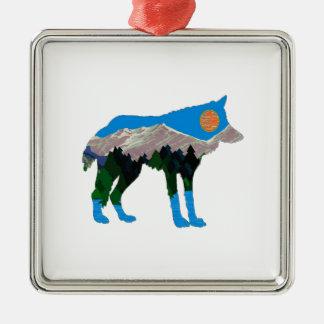 jTHE STOLZ-FAKTOR Quadratisches Silberfarbenes Ornament