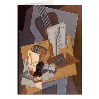 Juan Gris- das Buch von Musik Grußkarte