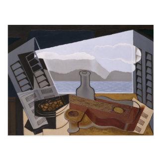 Juan Gris das offene Fenster Postkarte