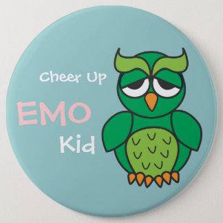 Jubeln Sie oben Emo Kindereule zu Runder Button 15,3 Cm