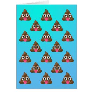 Jubeln Sie oben poopy Emoji Karte zu