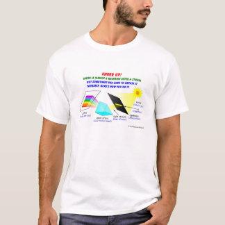 Jubeln Sie oben zu, dort ist immer ein Regenbogen T-Shirt