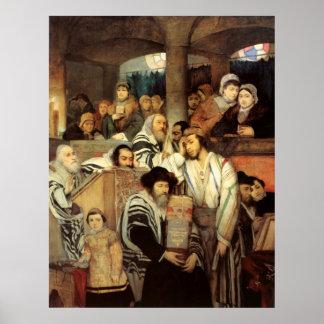 Juden, die durch Maurycy Gottlieb - circa 1878 Poster