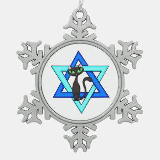 Jüdische Feiertage Schneeflocken Zinn-Ornament