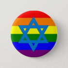 Jüdische Gay Pride-Flagge Runder Button 5,7 Cm
