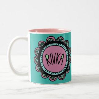 Jüdische Geschenk-Kaffee Tasse-Rivkah Zweifarbige Tasse