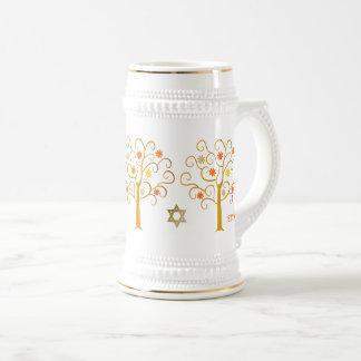 Jüdische Geschenk-Tassen des neuen Jahr-  Rosh Bierglas
