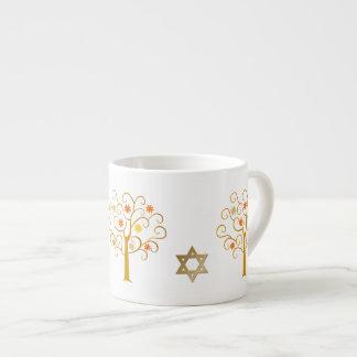 Jüdische Geschenkespresso-Tasse des neuen Jahr-| Espressotasse