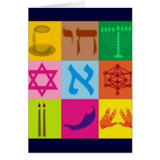 Jüdische Pop-Kunst Karte