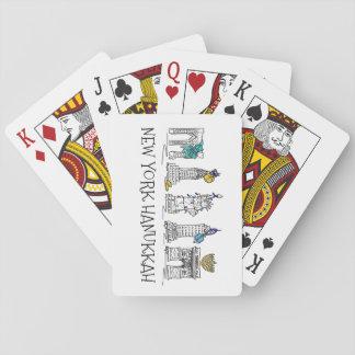 Jüdischer Feiertag Chanukah New York City Chanukka Spielkarten