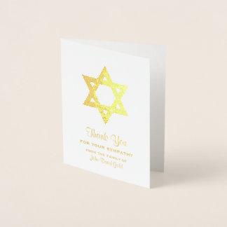 Jüdisches Beileid danken Ihnen Folienkarte