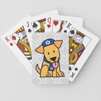 Jüdisches Labrador retriever Hündchen Chanukkas Spielkarten