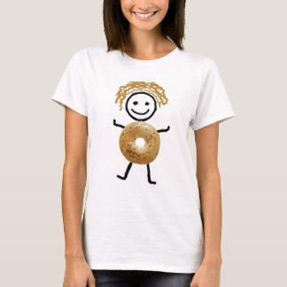 Jüdisches T - Shirt Frau-Bagel Kind
