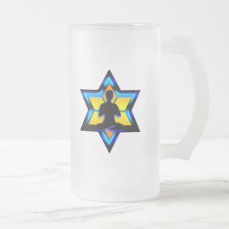 Jüdisches Yoga Mattglas Bierglas