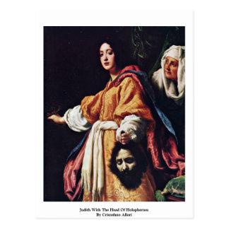 Judith mit dem Kopf von Holophernes Postkarte