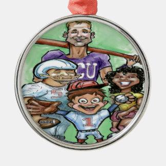 Jugend-Sport Silbernes Ornament