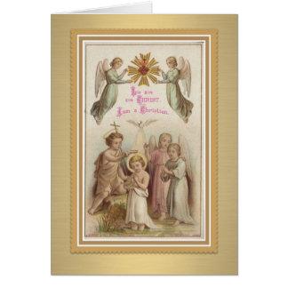 Jugend-Taufe w/Jesus, Johannes der Täufer, Engel Karte