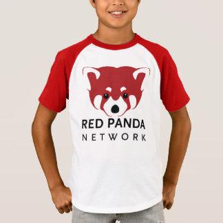 Jugend-Vintage Art-roter Panda T T-Shirt