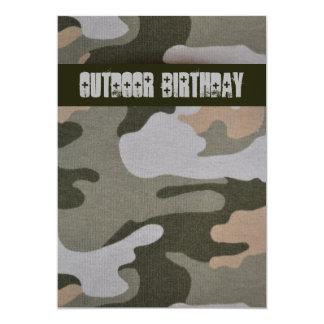 Jugendlich Jungen-Camouflage-Geburtstags-Party im Karte