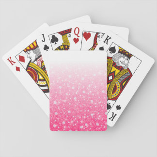 Jugendlich Tween-Mädchen-funkelnd rosa Glitter Spielkarten