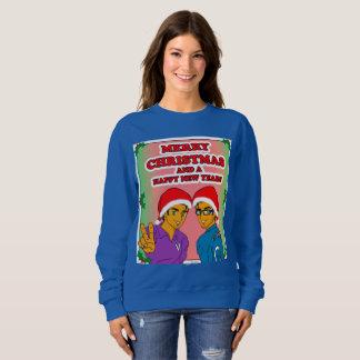 Jugendliches Eroberer-WeihnachtsSweatshirt-Blau Sweatshirt