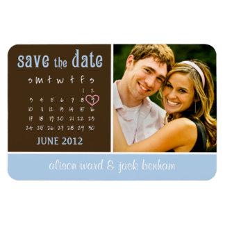 """juin 2012 calendrier """"économies la date """" magnets en vinyle"""