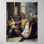 Jules César sur son chemin au sénat Poster